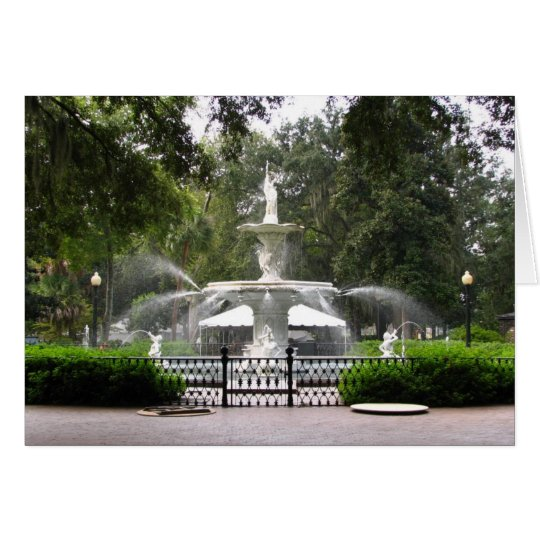 Forsyth Park Fountain Card