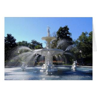 Forsyth Park Fountain, Savannah, Georgia, Card