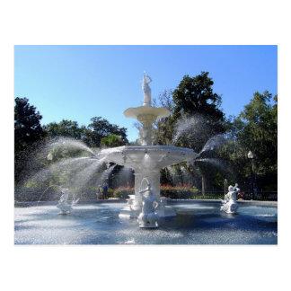 Forsyth Park Fountain, Savannah, Georgia, Postcard