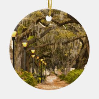 Forsyth Park - Photo, Savannah, Georgia (GA) USA Christmas Ornament