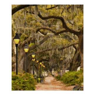 Forsyth Park - Photo, Savannah, Georgia (GA) USA Print