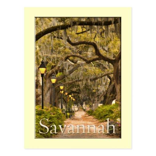 Forsyth Park - Savannah, GA Post Card