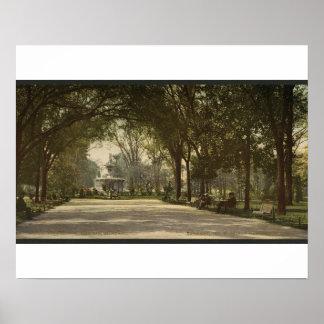 Forsyth Park, Savannah, Georgia circa 1901 Poster