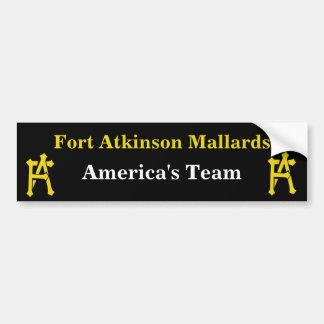 Fort Atkinson Mallards Bumber Sticker Car Bumper Sticker