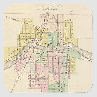 Fort Atkinson, Waterloo and Palmyra, Jefferson Co Square Sticker