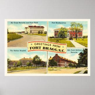 Fort Bragg # 2 North Carolina NC Vintage Souvenir- Poster