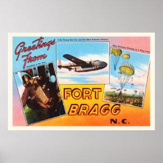 Fort Bragg North Carolina NC Old Vintage Postcard- Poster