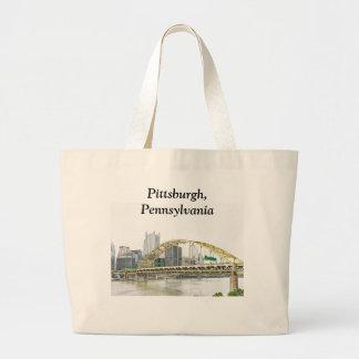 Fort Bridge in Pittsburgh Pennsylvania Large Tote Bag