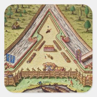 Fort Caroline, from 'Brevis Narratio' Sticker