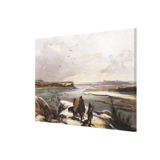 Fort Clark on the Missouri, February 1834, plate 1 Canvas Print