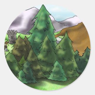 Fort Goldlake Round Sticker