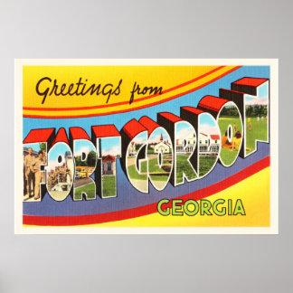 Fort Gordon Georgia GA Old Vintage Travel Postcard Poster