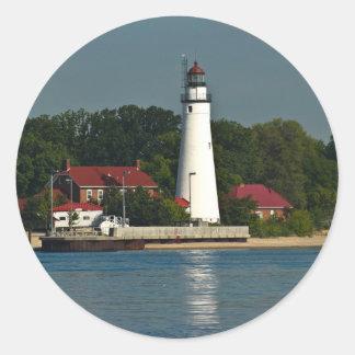 Fort Gratiot Michigan Round Sticker