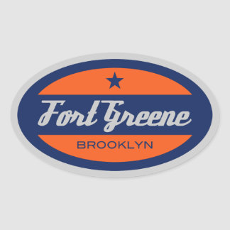 Fort Greene Oval Sticker