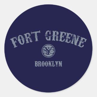 Fort Greene Classic Round Sticker