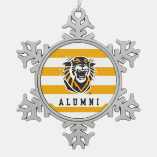 Fort Hays State | Alumni Snowflake Pewter Christmas Ornament
