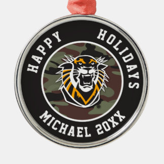 Fort Hays State | Camo Christmas Ornament