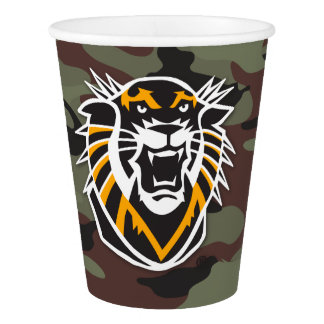 Fort Hays State | Camo Paper Cup