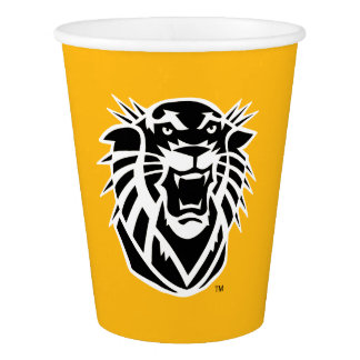 Fort Hays State Primary Mark | Black & White Logo Paper Cup