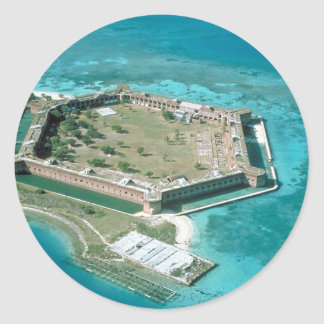 Fort Jefferson National Park Round Sticker