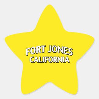 Fort Jones California Star Stickers