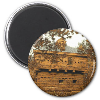 Fort Kent Blockhouse 6 Cm Round Magnet