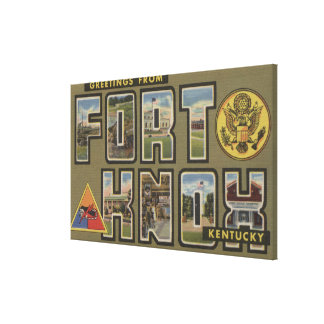 Fort Knox, Kentucky - Large Letter Scenes Gallery Wrap Canvas
