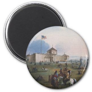 Fort Laramie, Sublette Fort, Fort William, Miller 6 Cm Round Magnet