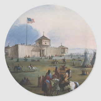 Fort Laramie, Sublette Fort, Fort William, Miller Classic Round Sticker