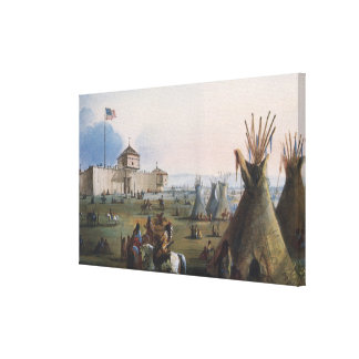 Fort Laramie, Sublette Fort, Fort William, Miller Gallery Wrap Canvas