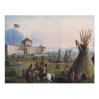 Fort Laramie, Sublette Fort, Fort William, Miller Postcards