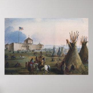 Fort Laramie, Sublette Fort, Fort William, Miller Poster