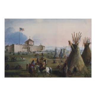 Fort Laramie, Sublette Fort, Fort William, Miller Posters