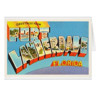 Fort Lauderdale #2 Florida FL Old Travel Souvenir Greeting Card