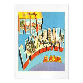 Fort Lauderdale #2 Florida FL Old Travel Souvenir Magnetic Invitations