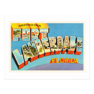 Fort Lauderdale #2 Florida FL Old Travel Souvenir Postcard