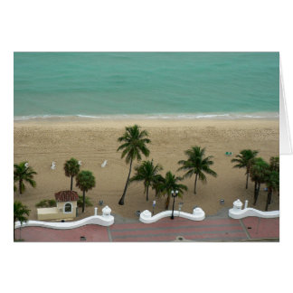 Fort Lauderdale Beach Aerial Greeting Card