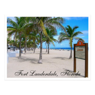 Fort Lauderdale Beach  Florida Post Card