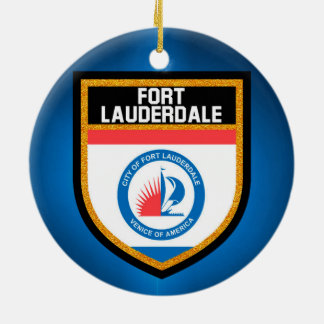 Fort Lauderdale Flag Christmas Ornament