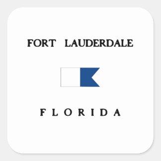 Fort Lauderdale Florida Alpha Dive Flag Square Sticker