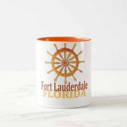 Fort Lauderdale Florida captain's wheel coffee mug