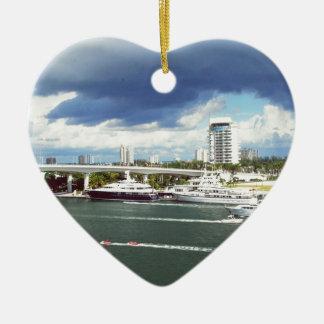 Fort lauderdale Florida Ceramic Heart Decoration