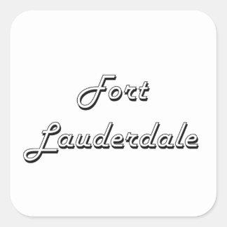 Fort Lauderdale Florida Classic Retro Design Square Sticker