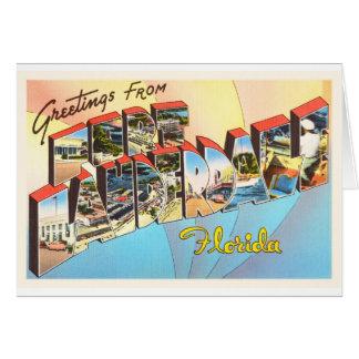 Fort Lauderdale Florida FL Vintage Travel Souvenir Greeting Card