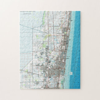 Fort Lauderdale Florida Map (1985) Jigsaw Puzzle