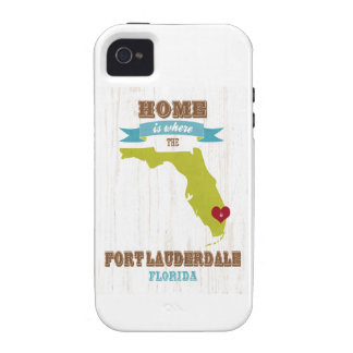 Fort Lauderdale, Florida Map – Home Is Where Case-Mate iPhone 4 Cover