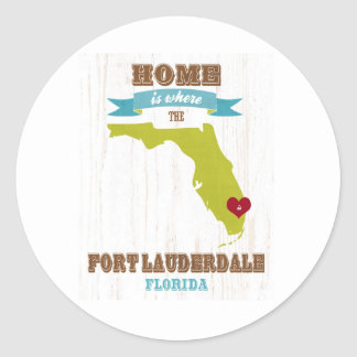 Fort Lauderdale, Florida Map – Home Is Where Classic Round Sticker