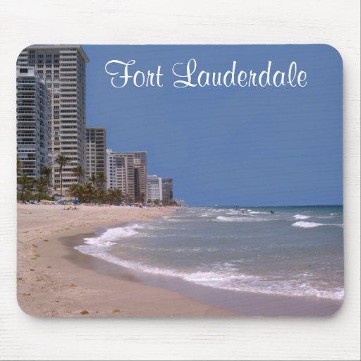 Fort Lauderdale Florida Ocean Beach Scene Mousepad