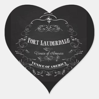 Fort Lauderdale Florida - Venice of America Heart Sticker