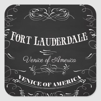 Fort Lauderdale Florida - Venice of America Square Sticker